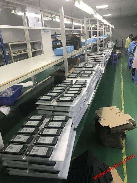 Production line for InkCase i7 Plus. The very first batch for testing... and more testing...
