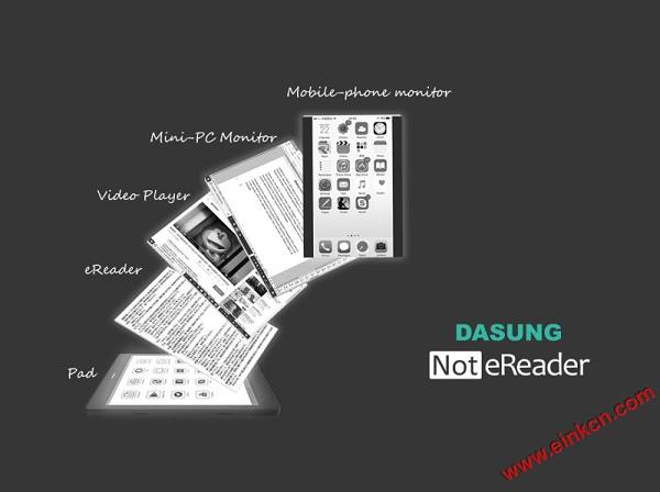 Not-eReader is the World's First E-ink Mobile-phone Monitor & PC Monitor. With open Android, it has Video Player/eReader and other interesting Apps. It will Protect Your Eyes Comprehensive