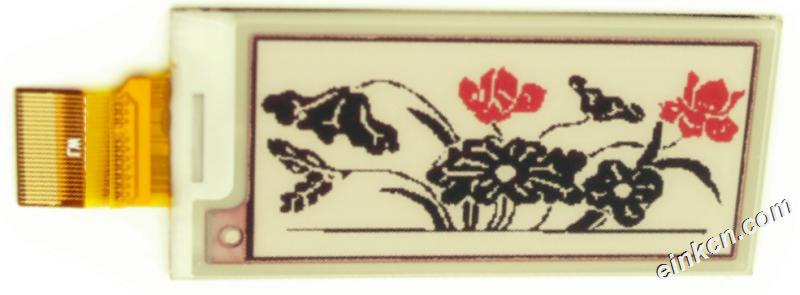 E0213A22-2.13寸-250 x 122-黑白红-SPI-玻璃-电子墨水屏